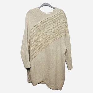 Pure Jill Tunic Sweater Cream Textured Sweater